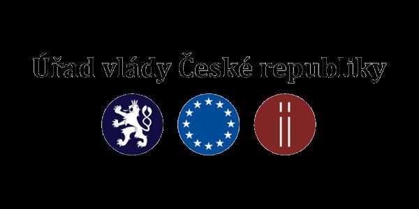 Logo hlavního partnera Klubu cystické fibrózy - Úřadu vlády České republiky